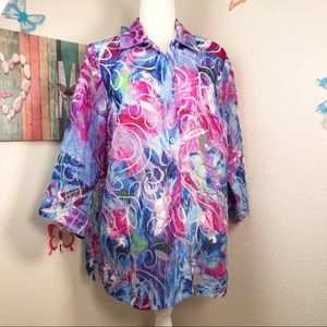 Allison daily blouse 16 W with the peekaboo design